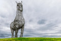 The heavy horse glasgow scotland by andy scott is a sculpture of a clydesdale and one of best known artworks in on august th in Stock Image