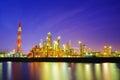 Heavy industry at dusk