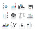 Heavy industry icons Stock Image