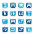 Heavy industry icons vector icon set Royalty Free Stock Images