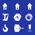 Heavy industry - a set of vector pictogrammes. Royalty Free Stock Images