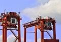 Heavy load cranes Royalty Free Stock Photo
