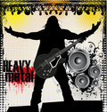 Heavy metal background Royalty Free Stock Photos