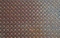 Diamond pattern metal rust texture heavy metal diamondplate Royalty Free Stock Photo