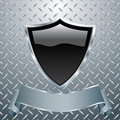 Heavy metal shield Royalty Free Stock Photos