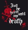 Heavy metal skull design Royalty Free Stock Photo