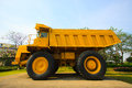 Heavy mining truck in mine and driving along the opencast photo of the big mine truck the career heavy load super car Royalty Free Stock Photo