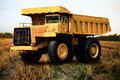 Heavy mining truck in mine and driving along the opencast photo of the big mine truck the career heavy load super car Stock Photo