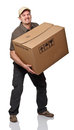 Heavy parcel Royalty Free Stock Image