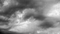 Heavy rain clouds Royalty Free Stock Photo