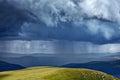 Heavy rain in mountains Royalty Free Stock Photo