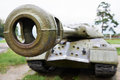 Heavy russian tank is of Royalty Free Stock Photos