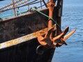 Heavy ship boat anchor marine metal marine boating transportation background image Royalty Free Stock Photography