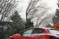 Heavy snow is dangerous for motorists Royalty Free Stock Photo
