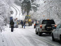 Heavy snow road block Stock Photography