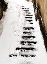 Heavy snowfall Royalty Free Stock Photo