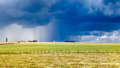 Heavy storm over a prairie in england Royalty Free Stock Image