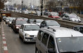 Heavy traffic in Bucharest Stock Image