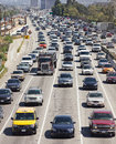 Heavy Traffic in Los Angeles Royalty Free Stock Photo