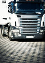 Heavy truck front view Royalty Free Stock Image