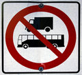 Heavy vehicules not allowed sign Royalty Free Stock Photos