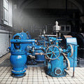 Heavy water pumping machinery Royalty Free Stock Photography