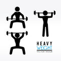 Heavy weight over white background vector illustration Royalty Free Stock Images