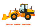 Heavy Wheel Loader Construction Vehicle on a white background