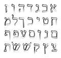 Hebrew Alphabet.  Vector Illus...