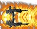 Heckler&Koch SL8 machine gun Stock Photography