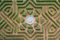 Hedge maze aerial view of a Royalty Free Stock Photography