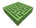 Hedge maze vector isolated green Stock Image