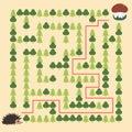 Hedgehog and Mushroom Maze educational game for children