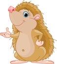 Hedgehog presenting Stock Photo
