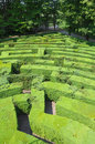 Hedges labyrinth Stock Images