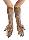 Heena hand isolate on white Royalty Free Stock Photos