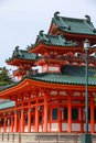 Heian jingu kyoto shrine in japan unesco world heritage site Royalty Free Stock Photo