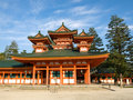 Heian Jingu shrine Royalty Free Stock Photo