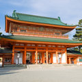 Heian Jingu shrine Stock Images