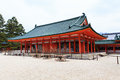 Heian shrine in winter season kyoto japan Royalty Free Stock Photo