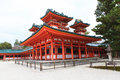 Heian shrine in winter season kyoto japan Royalty Free Stock Image