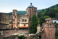 Heidelberg castle the exterior architecture of the partially destroyed part of the renaissance in germany it was Stock Image