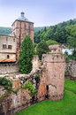 Heidelberg castle the exterior architecture of the partially destroyed part of the renaissance in germany it was Royalty Free Stock Photos