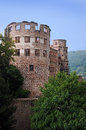 Heidelberg castle the exterior architecture of the partially destroyed part of the renaissance in germany it was Royalty Free Stock Images