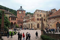 Heidelberg castle the exterior architecture of the partially destroyed part of the renaissance in germany it was Stock Photos