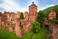 Heidelberg castle fragment view during daytime Royalty Free Stock Photo