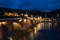 Heidelberg Castle, Germany, night lights. Royalty Free Stock Photo