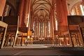 Heidelberg. Chiesa dell'interiore di Spirito Santo Immagine Stock Libera da Diritti