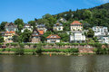 Heidelberg germany panorama view on the city Royalty Free Stock Image