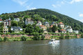 Heidelberg germany panorama view on the city Royalty Free Stock Photo